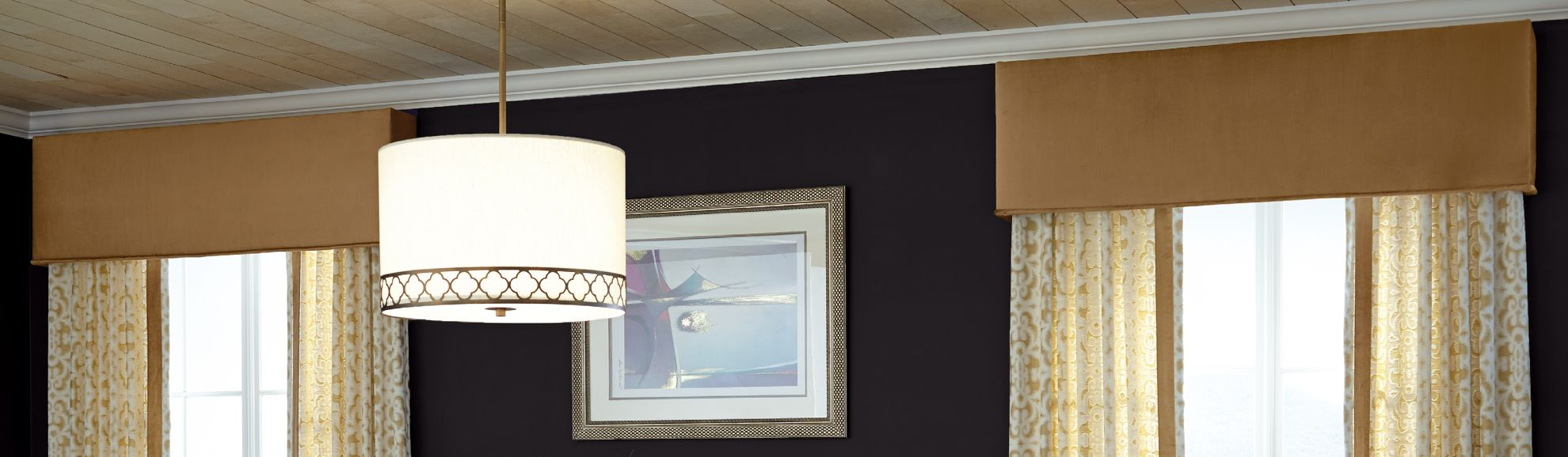 Fabric Cornices - Kinsley Deluxe - Dining Room