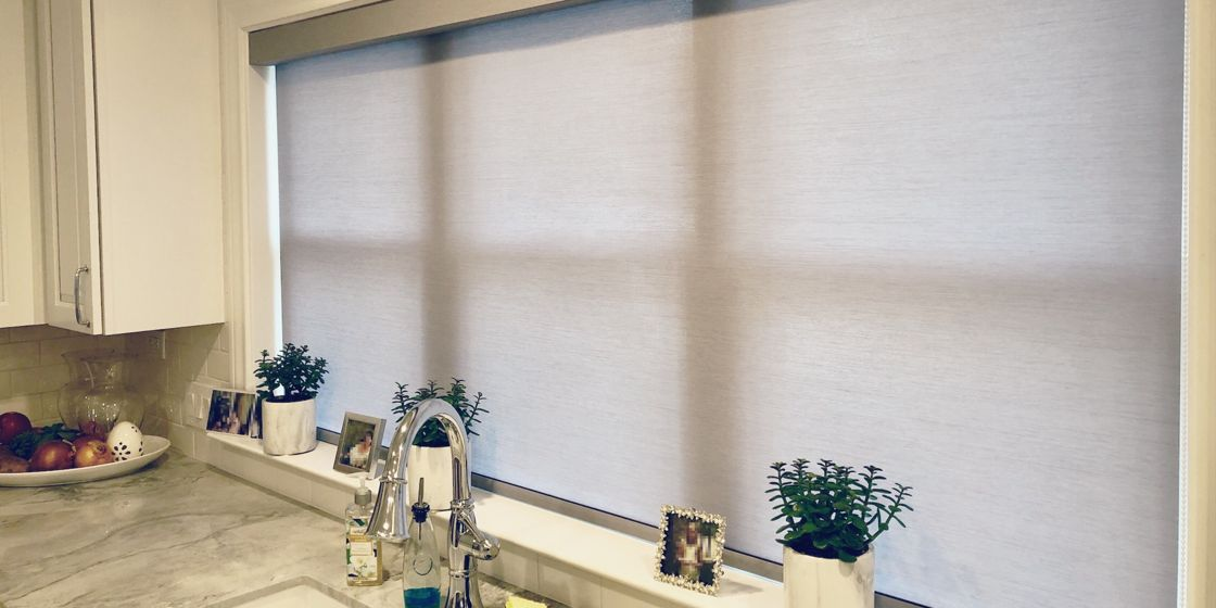 Roller Shades - Houston Area - Tussah Gray 385 - Kitchen