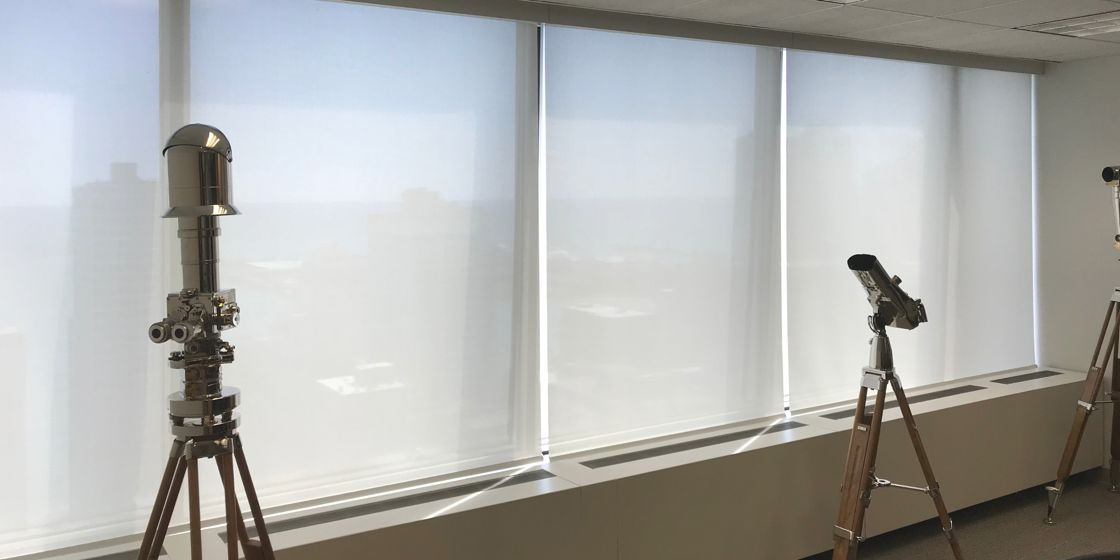 Solar Shades - Chicago Area - E Screen 5% Openness - White 885 - Commercial - Office