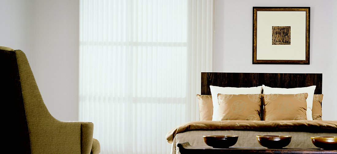 Vertical Blinds - Crystaline Ivory 7018 - Bedroom
