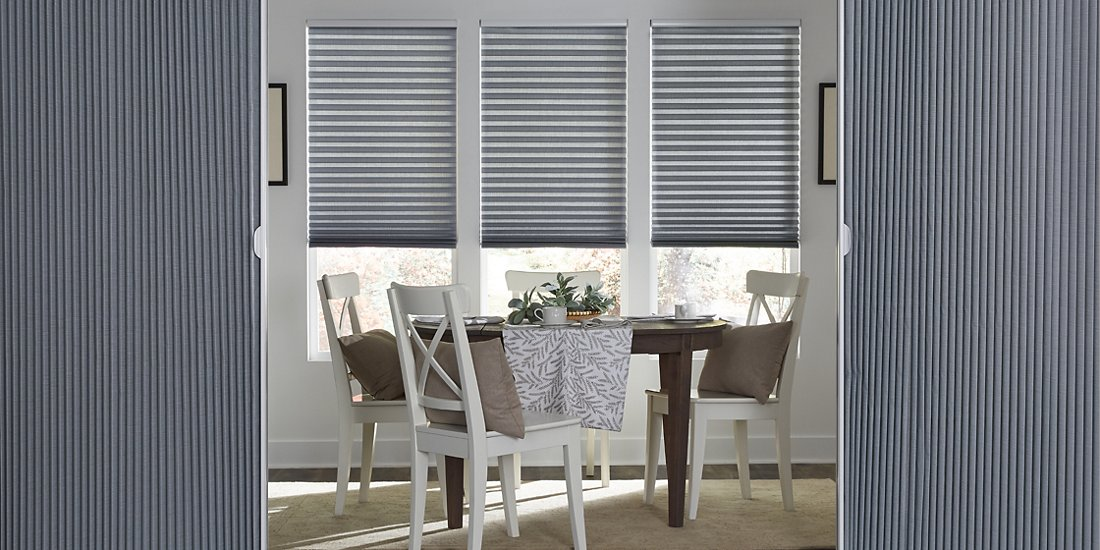 Vertical Cellular Shades - Dining Room