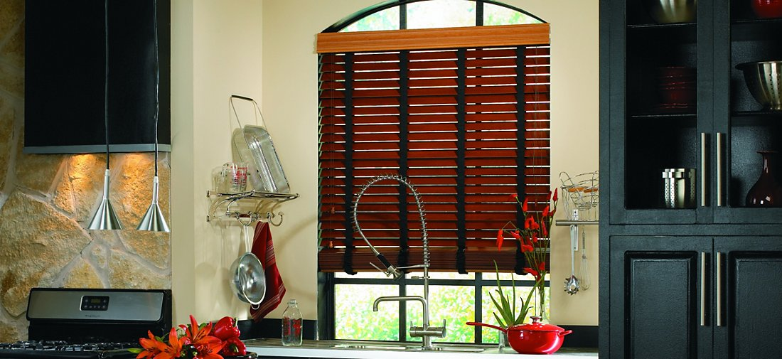 Composite Wood Blinds - Royale Walnut 329 - Kitchen