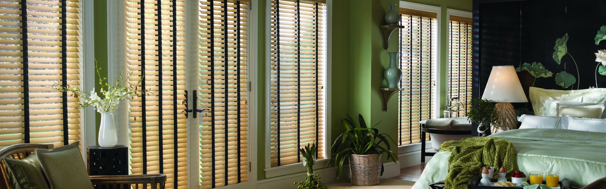 Wood Blinds - Bedroom