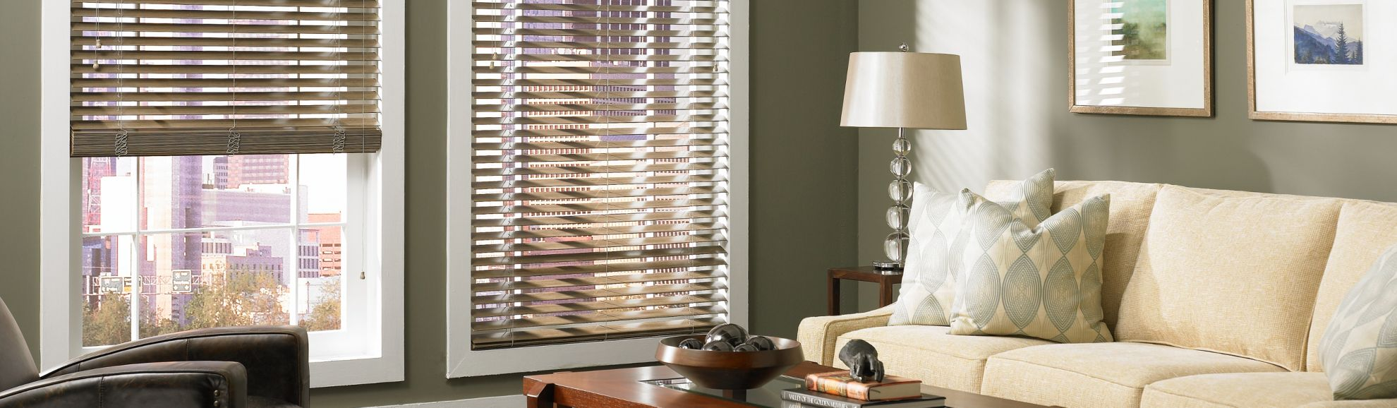 Wood Blinds - Mountain Ash 634 - Living Room